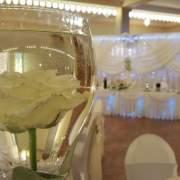 Hochzeitsdekoration in Crem Farbe
