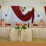 Bordeaux Tischdekoration Hochzeit
